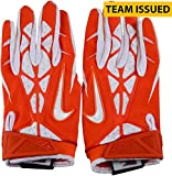 Clemson Tigers Team-Issued Orange and White Vapor Jet Nike Football Gloves - Size L - Fanatics Authentic Certified