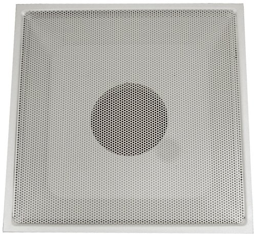 Cheap Speedi-Grille TB-PRA 12 24-Inch x 24-Inch White Drop Ceiling T-Bar Perforated Face Return Air Vent Grille with 12-Inch Collar (TB-PRA 12)