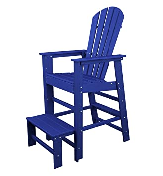 POLYWOOD SBL30PB South Beach Lifeguard Chair, Pacific Blue