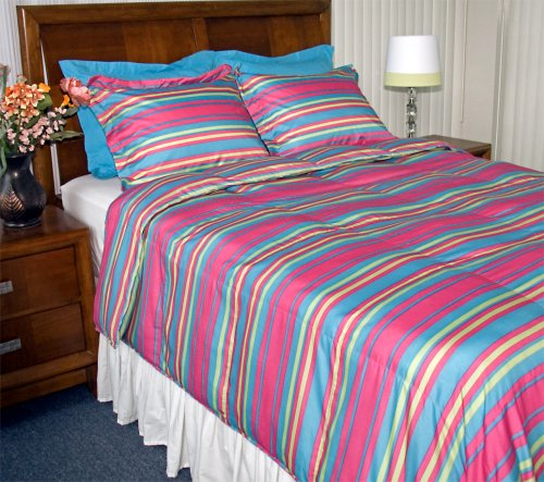 Newpoint Printed Stripe Microfiber Comforter Sets