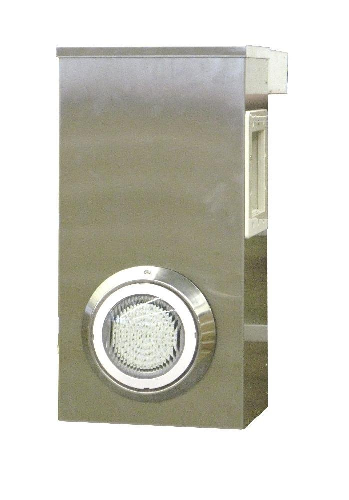 Water clip-Messerblock mit Skimmer-Set, Aluminium, mit Beleuchtung Water-clip (ex Cristaline)