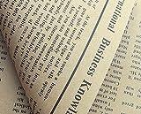 【GIFT】 外国の新聞紙風プリント クラフト紙 おしゃれでかわいい 包装紙 お花やプレゼント・ギフト商品のラッピングに! 英字 包装紙 10枚 (Beige X Black)