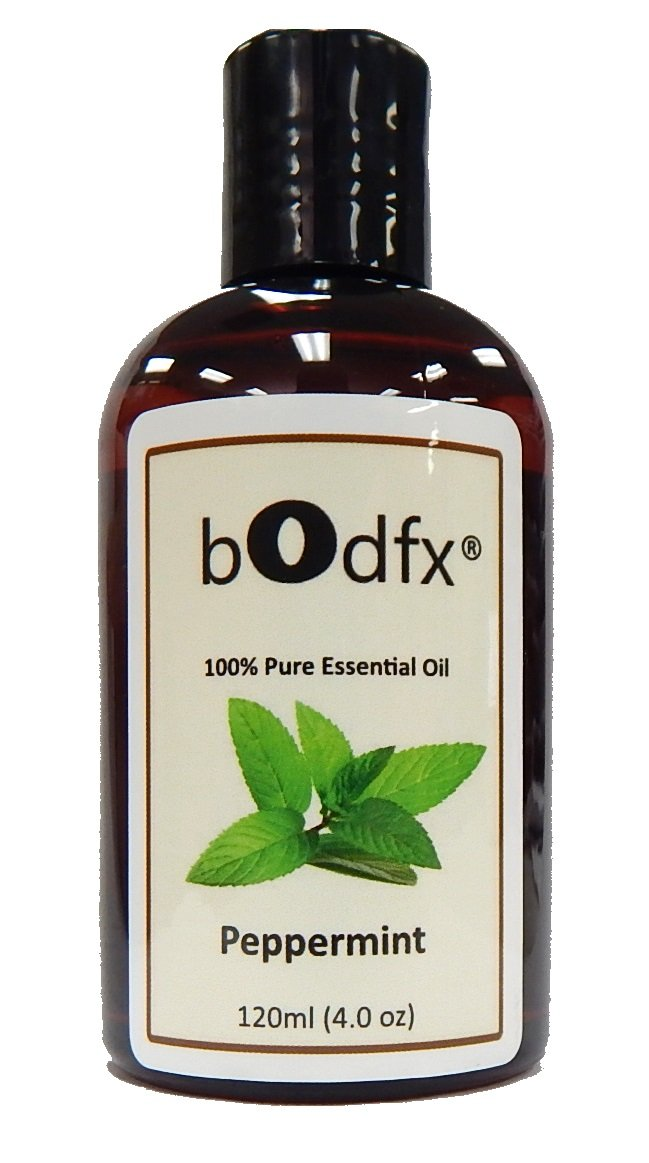 bOdfx Peppermint Oil. 100% Pure and Natural. Steam Distilled. 120ml (4oz)