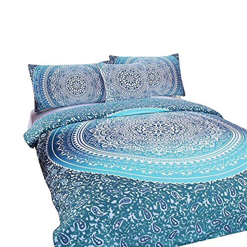 Sleepwish 4 Pcs Bohemian Luxury Boho Bedding Crystal