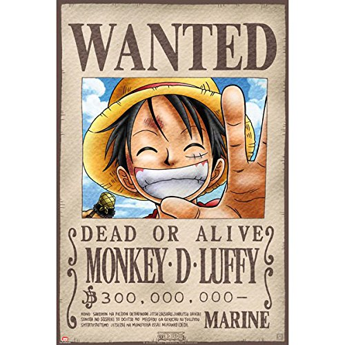 ABYstyle - ABYDCO144 - Affiche - One Piece - Wanted Luffy