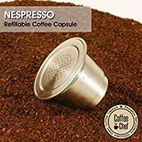 Coffee Chef Barista Set with Refillable Reusable Nespresso Capsule Stainless Steel Metal pod