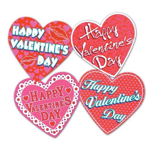Pkgd Valentine Heart Cutouts   (4/Pkg)