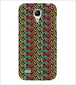 PrintDhaba Love Pattern D-5287 Back Case Cover for SAMSUNG GALAXY S4 MINI (Multi-Coloured)