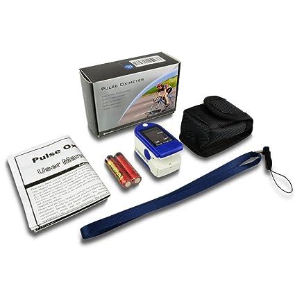 AccuMed® CMS-50DL Pulse Oximeter Finger Pulse Blood Oxygen SpO2 Monitor w/ Carrying case, Landyard & Battery FDA
