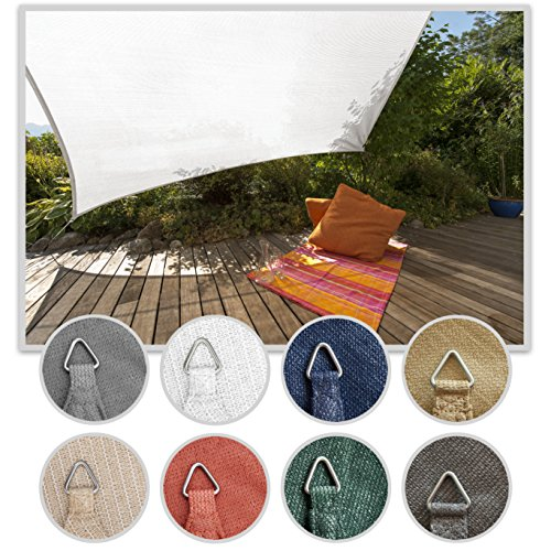 Windhager 10971 - Vela de sombra para patio, triangular 3.5m, color terracota
