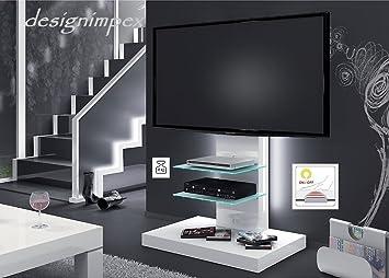 Fernsehtisch H-444 Weiß Hochglanz TV Schrank TV Möbel TV Rack LCD inkl. TV Halterung