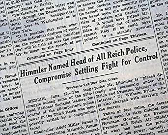 HEINRICH HIMMLER Becomes Chief of GERMAN POLICE Jewish Holocaust 1936