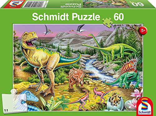 SCHMIDT Children's Age of Dinosaurs Puzzle (60-Piece)