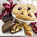 Gourmet Food Gift Basket - Includes an assortment of: Jumbo Chinese Cookies, Hamentashen, Walnut Brownie, Chocolate Cheese Brownie, and Assorted Rugelach. Top Gift! by Muffin 'N' Stuff