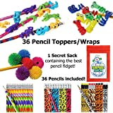 36 Pencils & 36 Fun Fidget Pencil Toppers with 1 Super Secret Surprise Sack