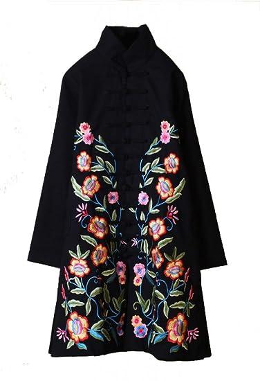 Bestickter Damenmantel 100% Manuelle Arbeit Elegante Chinesische Kleidung #119