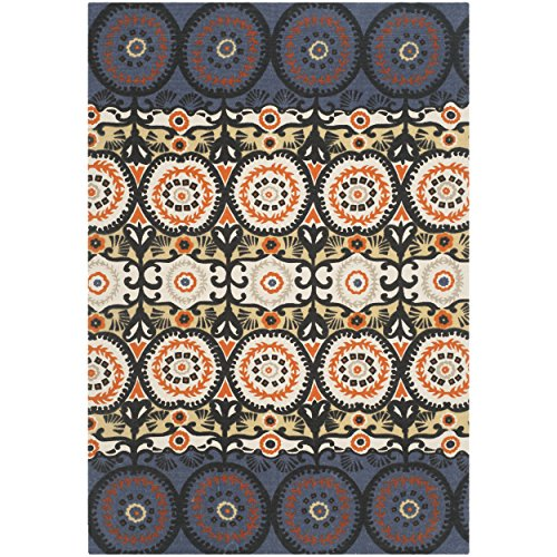 Safavieh Cedar Brook Collection CDR127L Handmade Lilac and Orange Cotton Area Rug, 4 feet by 6 feet (4' x 6')