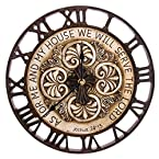 Wall Clock with Bible Verse and Cross