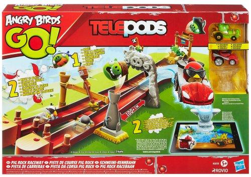 Hasbro - Angry Birds Go Telepods, Pista da Corsa Pig Rock