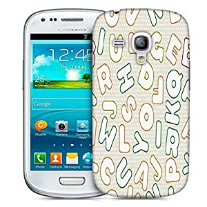 Snoogg White Alphabets Designer Protective Phone Back Case Cover For Samsung Galaxy S3 Mini