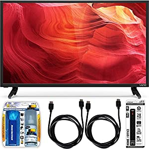 Vizio E32-D1 32-Inch 120Hz SmartCast Full-Array LED 1080p HDTV w/ Accessory Bundle includes TV, Screen Cleaning Kit, 6 Outlet Power Strip with Dual USB Ports and 2 HDMI Cables