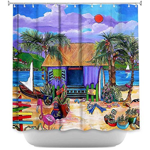 DiaNoche Designs Shower Curtains by Patti Schermerhorn Unique, Cool, Fun, Funky, Stylish, Decorative Home Decor and Bathroom Ideas - Island Time
