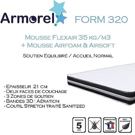 Armorel MAF320100/220 Form 320 Matelas Mousse Blanc 220 x 100 cm