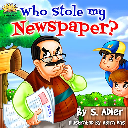 childrens-book-who-stole-my-newspaperkids-bookbedtime-story-values-beginner-readers-funny-humor-rhym