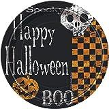 18�cm), dise�o de cuadros, de Halloween Platos para fiesta, pack de 8