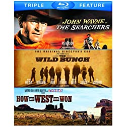 Searchers / Wild Bunch / How the West Was Won (Triple-Feature) [Blu-ray]
