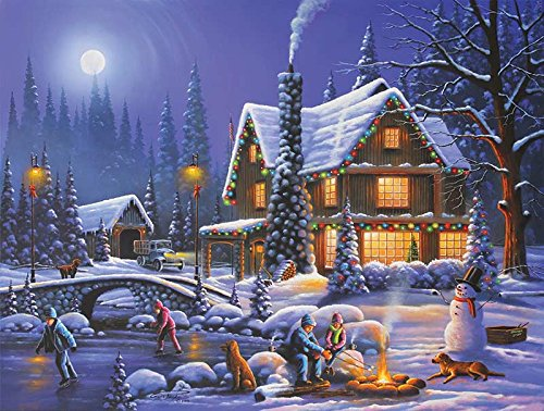Holiday Spirit a 300-Piece Jigsaw Puzzle by Sunsout Inc.