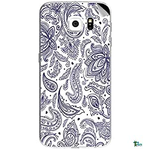 Swagmantra Purple white flora mobile skins for Samsung Galaxy S6Edge