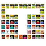 Geenbow Bigelow Tea Sampler 54 Classic Flavor Assortment Tea Bags in Foil with Rich Flavor Variations and Gift Box (Tamaño: 54)