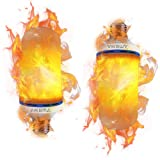 AIKEMA LED Flicker Flame Effect Fire Light Bulbs Atmosphere Lighting Vintage Flaming Christmas Lights Party Decoration (2 Pack) (Flame Effect led Bulbs 00) (Color: Flame Effect Led Bulbs 00)