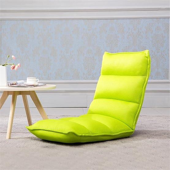 LIYONGDONG® Divano pigro Divano Tatami Divano multifunzione Simplicità creativa Pieghevole Rimovibile e lavabile , green