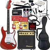 SELDER エレキギター ストラトキャスタータイプ ST-16 初心者入門20点セット /メタリックレッド(9707001020)