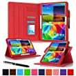 rooCASE Samsung Galaxy Tab S 10.5 H�lle Case - PU Ledertasche schutzh�lle St�nderfunktion Cover (rot - Dual View)