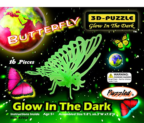 Puzzled Glow In The Dark Butterfly 3D Jigsaw Puzzle