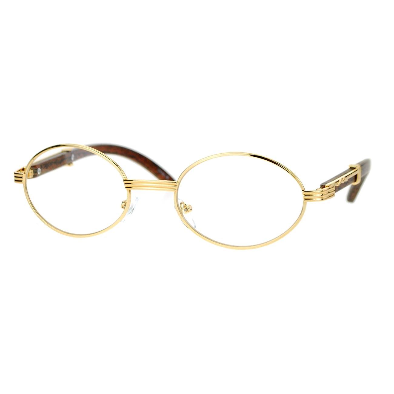 SA106 Art Nouveau Vintage Style Oval Metal Frame Eye Glasses 1