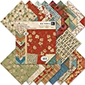 "Blossomwood Double-Sided Designer Paper Pad 12""X12""-42 Sheets Plus Die-Cut Stickers"