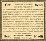 1892 Ad Dingee Conard Rose Growers Gardening Guide Book Heed Seedsmen West Grove - Original Print Ad
