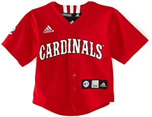MLB Infant St. Louis Cardinals Team Color Printed Baseball Jersey (Red, 24mos)