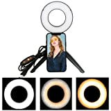 Yefound 5 Selfie Ring Light with Tripod Stand for Live Stream and Makeup, Mini Led Camera Ringlight for YouTube Video/Photography