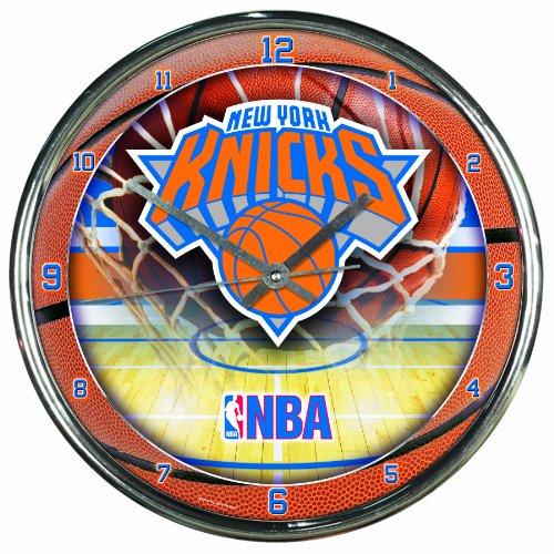 NBA New York Knicks Chrome Clock