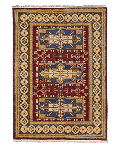 Hand-Knotted Royal Kazak Wool Rug, Red, 4' 2 x 5' 10