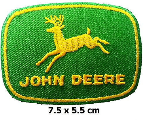 John Deere patch Iron on Logo Vest Jacket cap Hoodie Backpack Patch Iron On/sew on patch