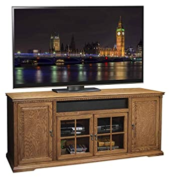 77.56 in. TV Cabinet in Rustique Finish