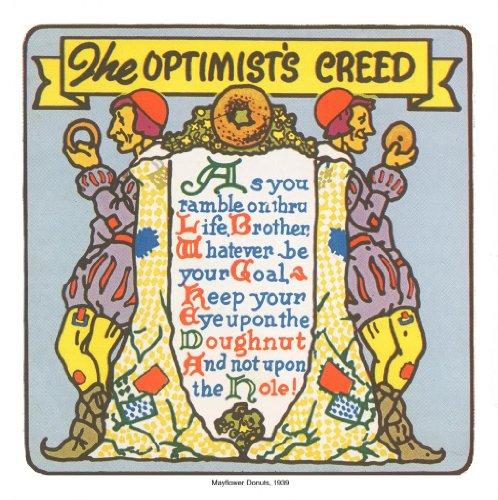 The Optimist'S Creed 1939 Vintage Menu Print 13