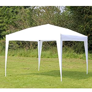 10 EZ POP UP WHITE Canopy New Gazebo NO Sidewalls: Sports & Outdoors