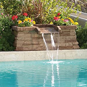 Brownstone scupper in ground swimming pool - Swimming pool water fountain kits ...